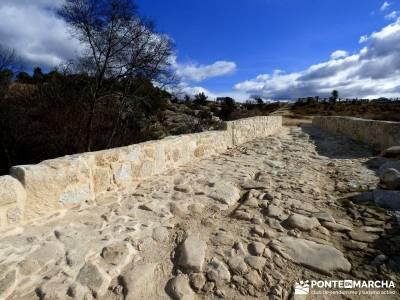Puentes Medievales Río Manzanares; pinsapar puente de diciembre dias viajes fin de semana arbol de